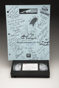 A signed copy of the script and tape of the episode are preserved at the collection.